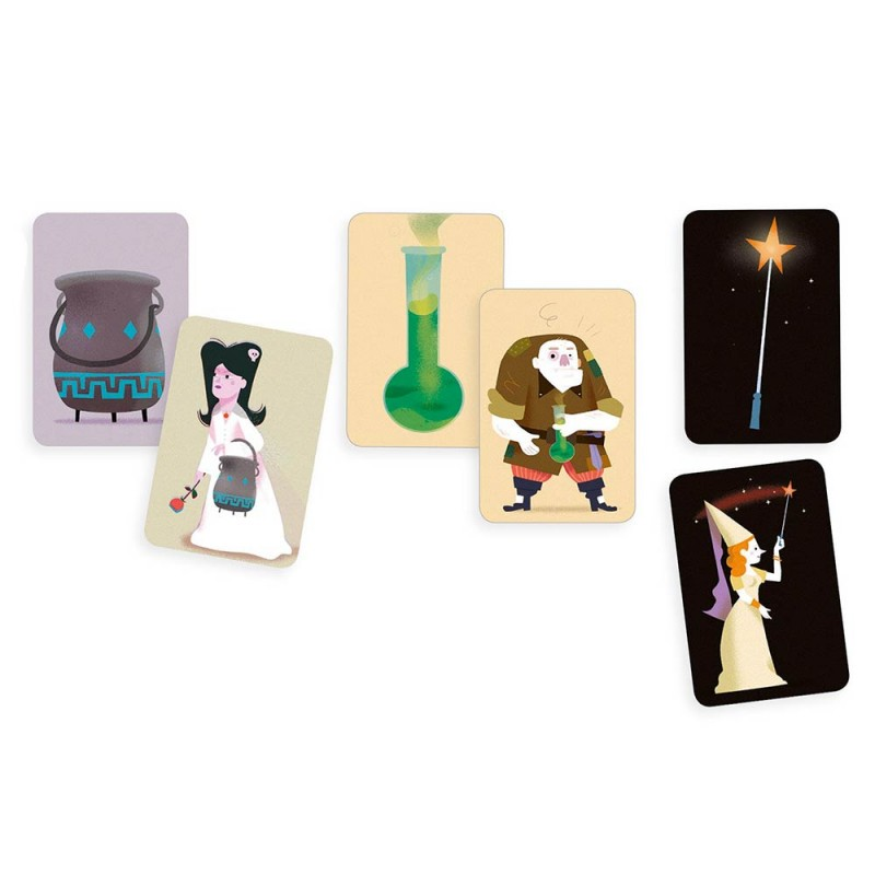 Le jeu de cartes Djeco avec de magnifiques illustrations pour les enfants