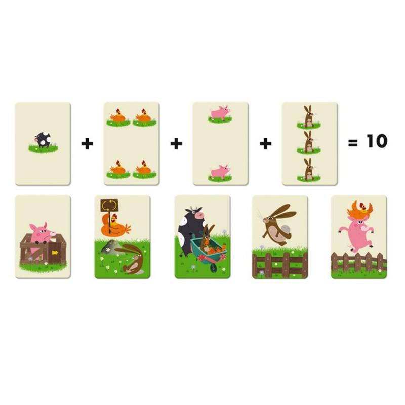 jeu de cartes Top 10 Janod apprendre les chiffres