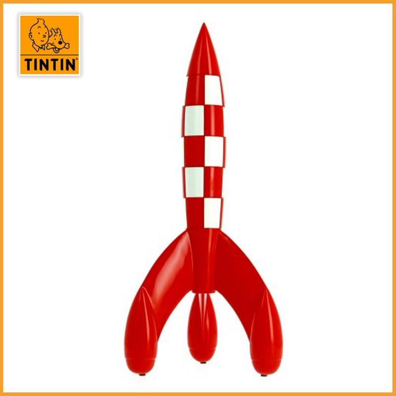 Figurine Fusée Lunaire de Tintin en résine 30 cm