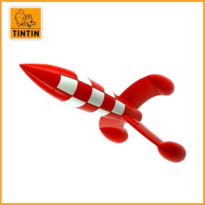 Figurine Fusée Lunaire de Tintin en résine 30 cm - Moulinsart 46949