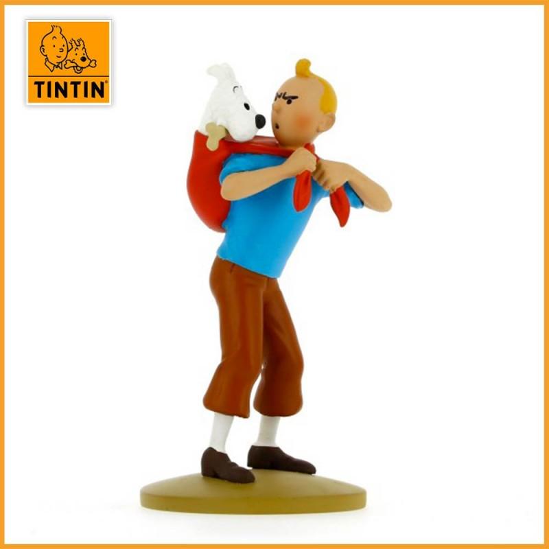 Figurine Tintin ramène Milou - Figurine Résine Tintin 42194