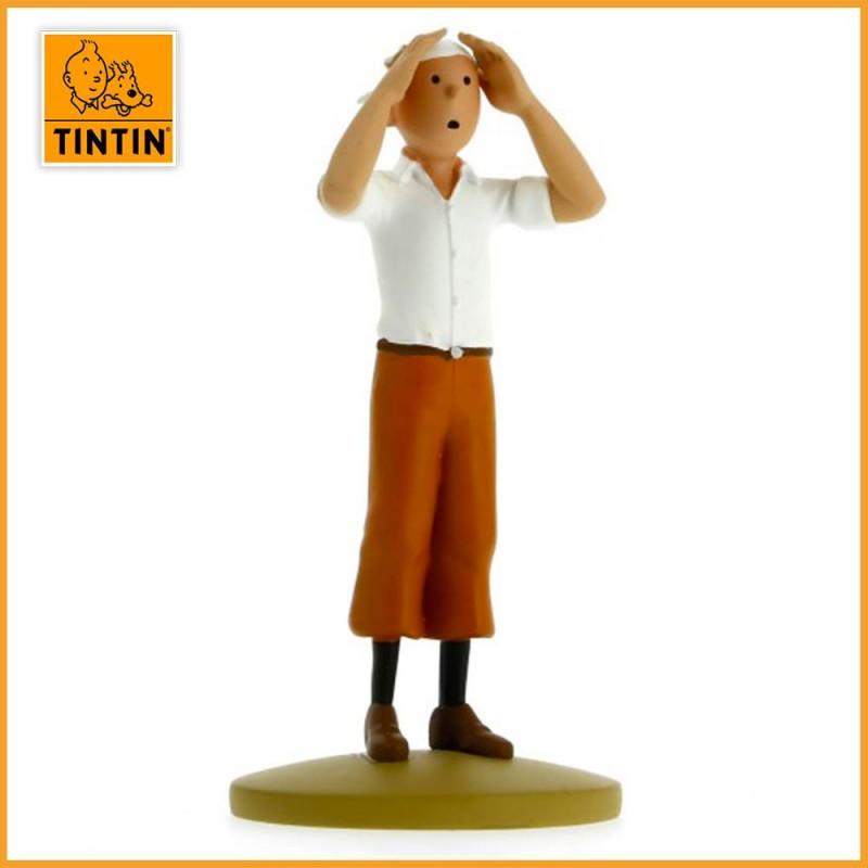 Figurine Tintin dans le désert - Statuette Résine Moulinsart 42193