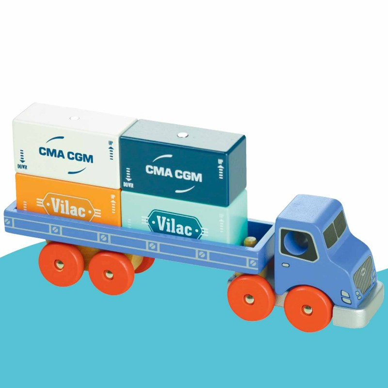 Camion porte-conteneurs en bois de Vilacity