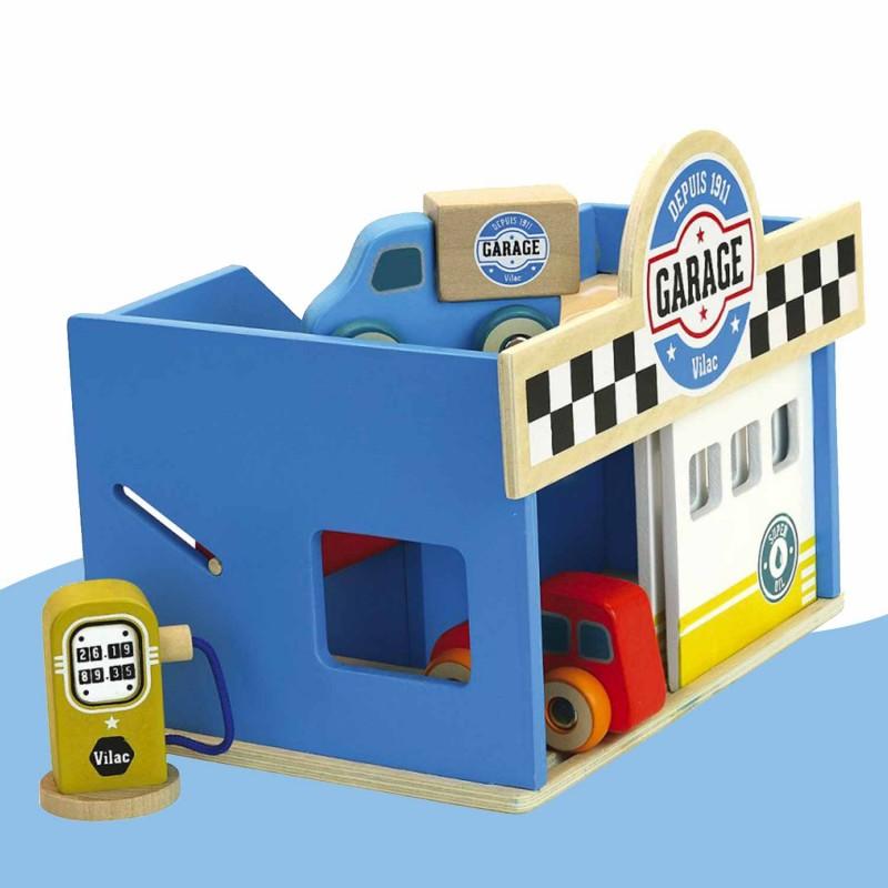 Garage en bois pour les enfants