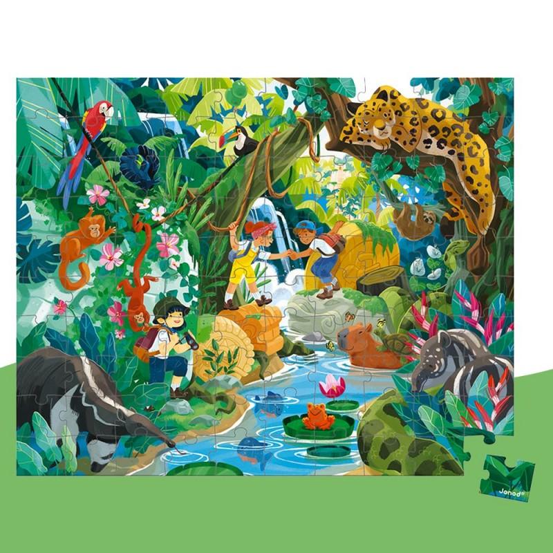Puzzle avec de belles illustrations pour une immersion dans la jungle garantie !