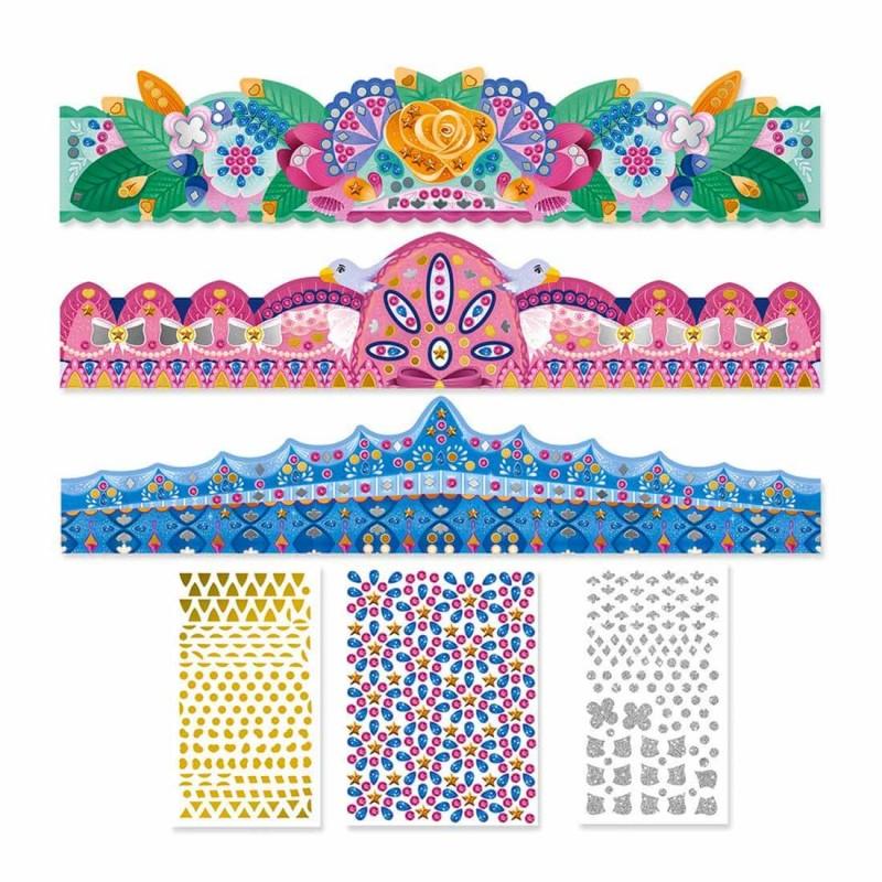 Le contenu du kit créatif Les ateliers du calme de Janod sur les couronnes à décorer J07882