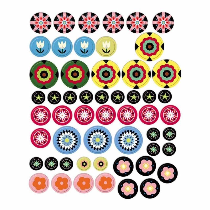 Les stickers colorés du coffret Mille fleur de Janod