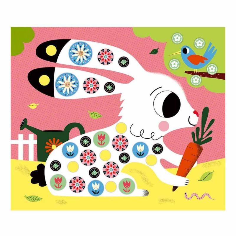 Lapin à décorer avec des stickers