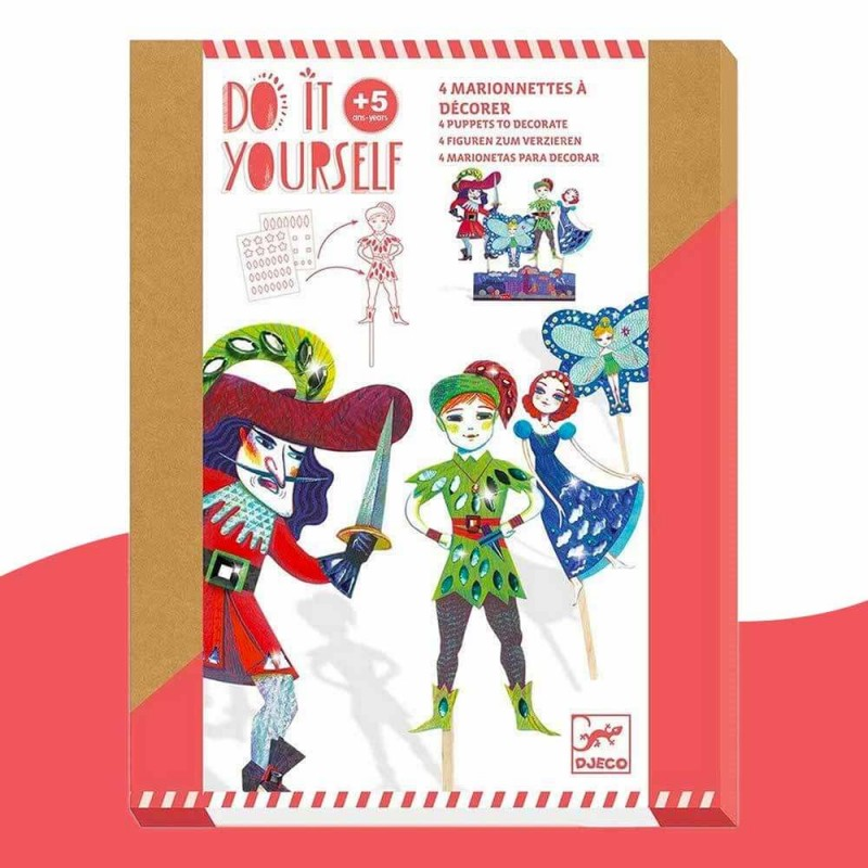 4 Marionnettes à décorer Peter Pan Do It Yourself Djeco