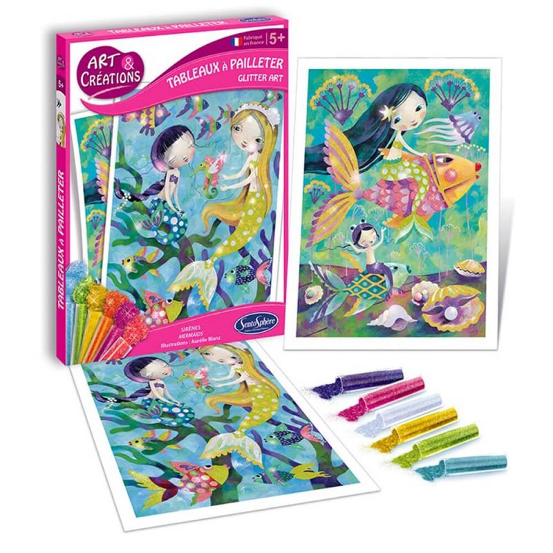 Kit loisir créatif paillette pour les enfants Sentosphère