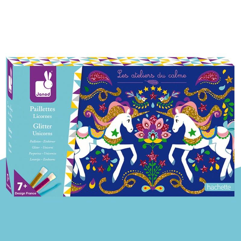 Kit créatif paillettes licornes Les Ateliers du Calme Janod
