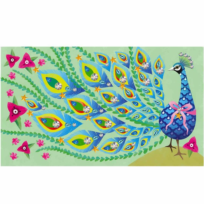 La paon à décorer - Set créatif pour les enfants (dès 7 ans)