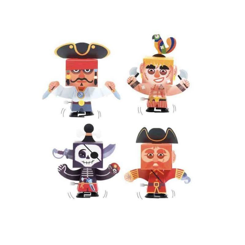 Les 4 pirates à colorier