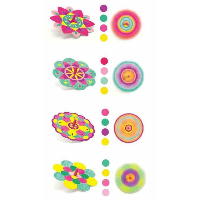 Les différents exemples de coloris pour aider les enfants.