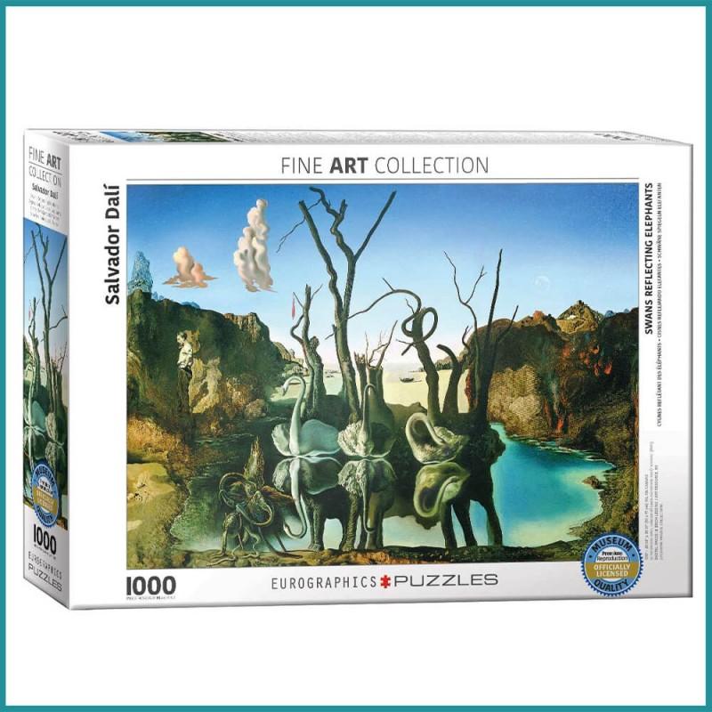 Puzzle Cygnes reflétant des éléphants Salvador Dali - 1000 pièces - Eurographics