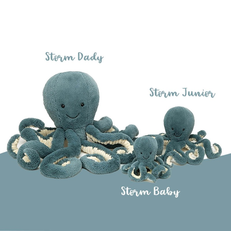 Famille poulpe storm Jellycat
