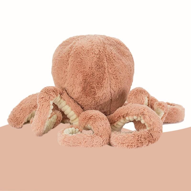 Odell big peluche de 107 cm poulpe/pieuvre de jellycat - vue de dos