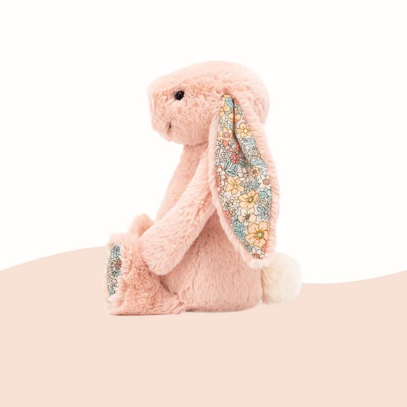 Lapin en peluche rose avec des fleurs - Jellycat
