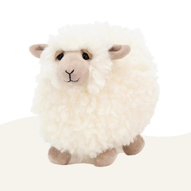 Peluche Mouton Rolbie Cream Sheep Jellycat Small (15 cm)