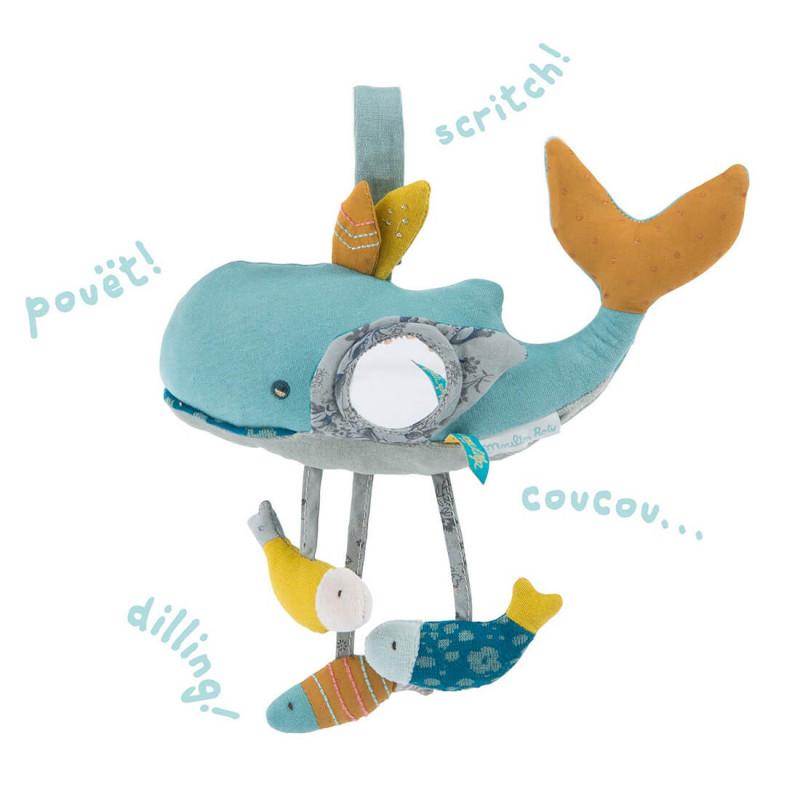 Un jouet d'éveil baleine pour stimuler les sens des enfants