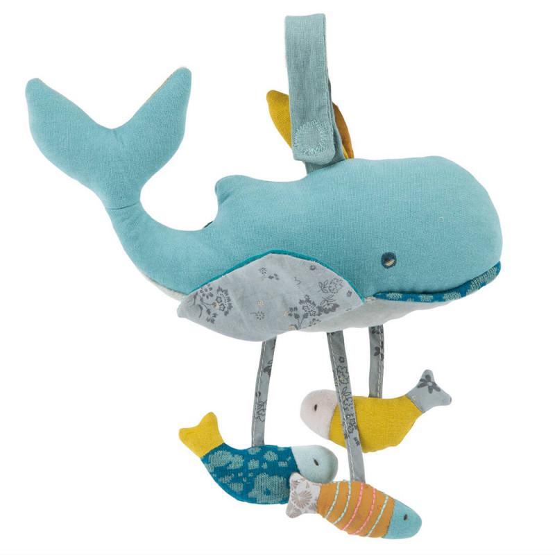 Peluche d'activités pour les enfants baleine Joséphine Moulin Roty