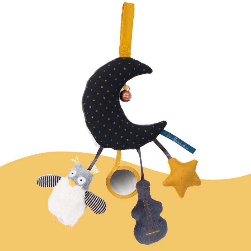 Lune d'activités Les Moustaches Moulin Roty pour bébé