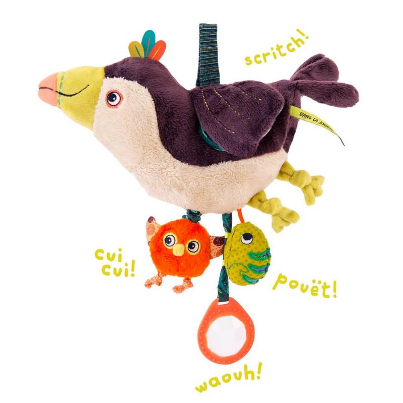 Un jouet d'éveil & peluche pour éveiller les sens de bébé