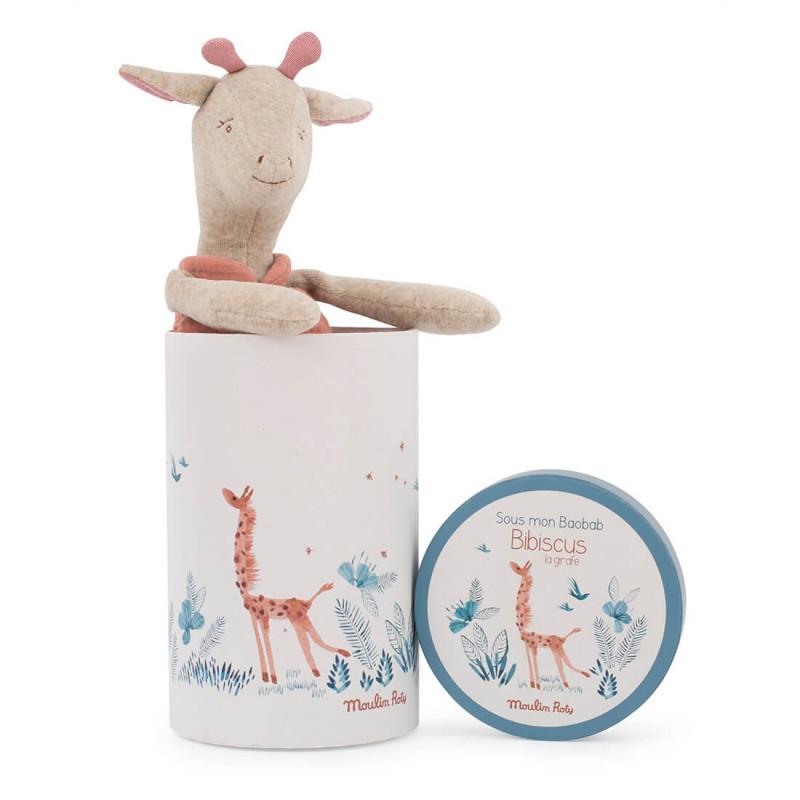 Boite cadeau incluse avec la peluche Girafe