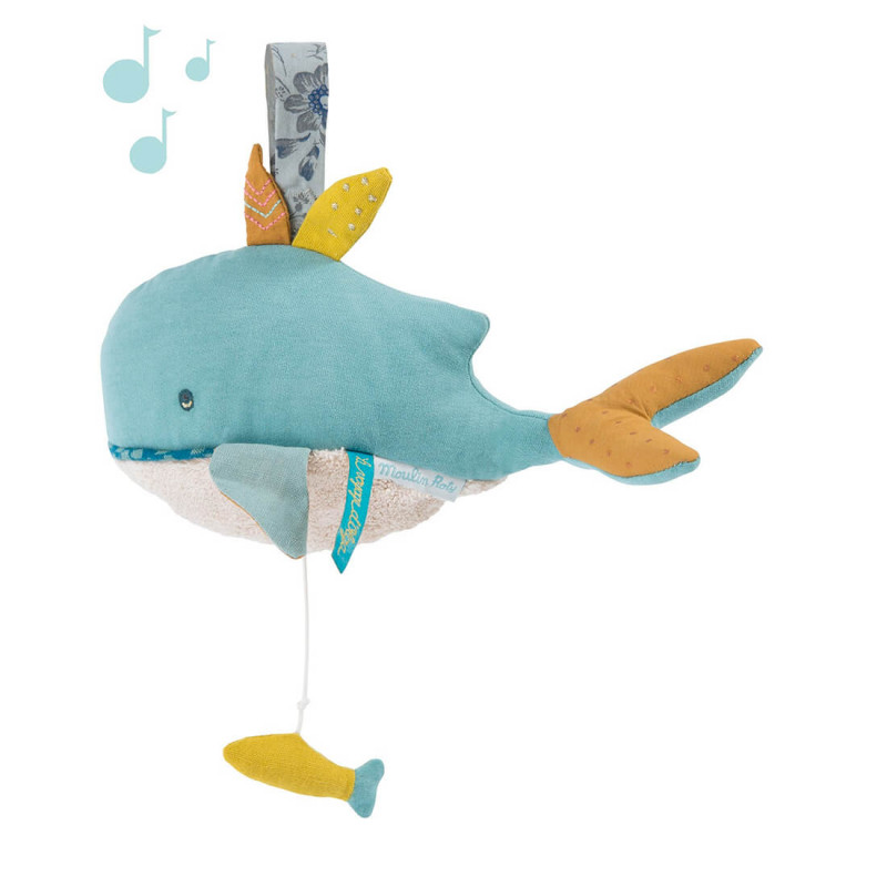 Baleine doudou musical Moulin Roty