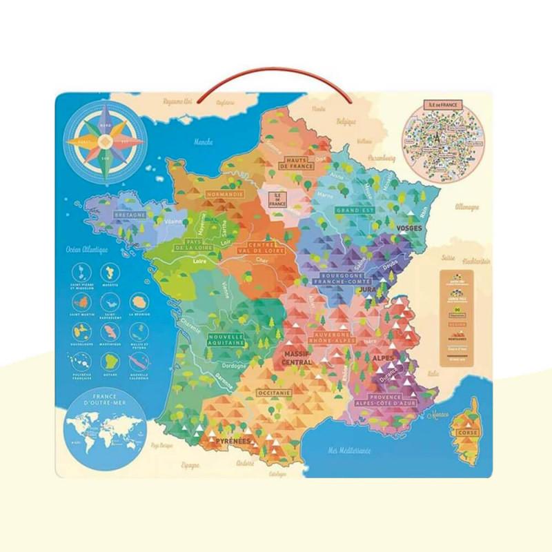 Puzzle éducatif carte de France pour les enfants