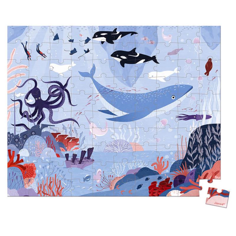 Puzzle océan arctique enfant 5 ans 54 pièces Janod