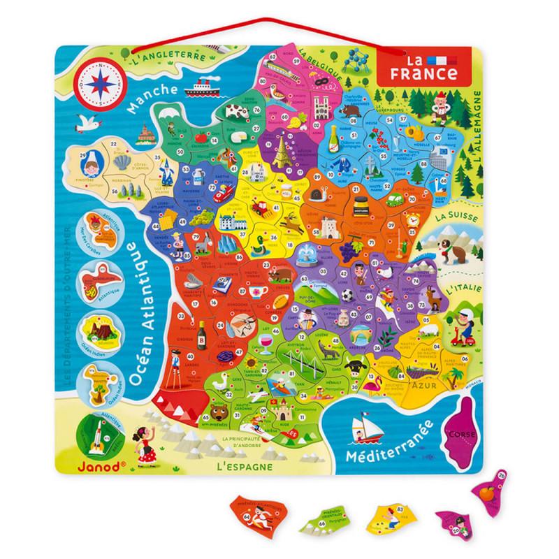 Carte France puzzle bois enfant