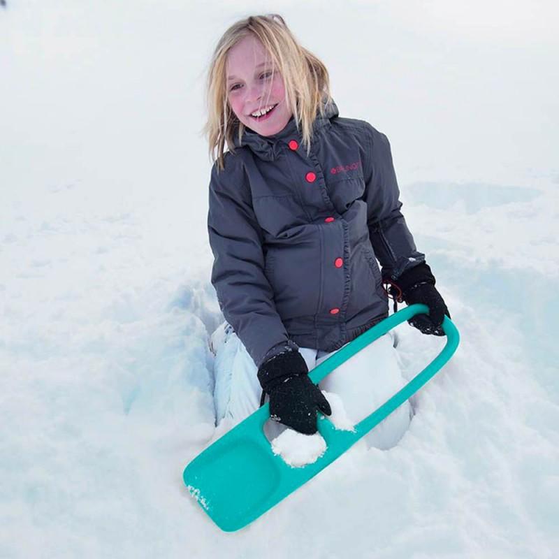 Pelle montagne neige Scoppi Vert Lagon de Quut - Pelle Multi-usages pour les enfants