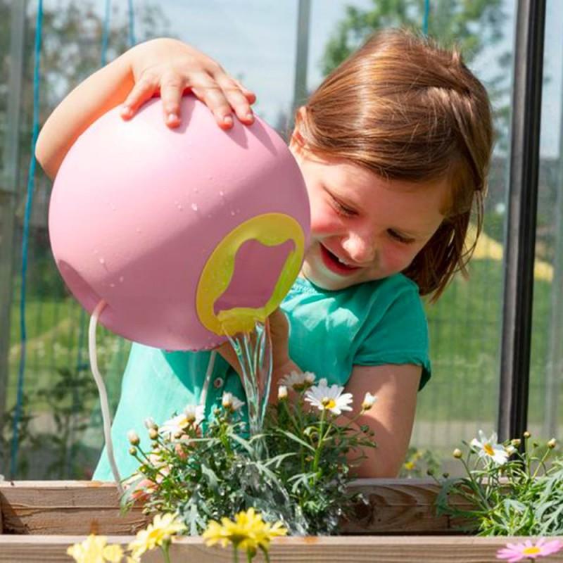 Seau Mini Ballo Rose de Quut - Un seau ludique pour les enfants dans le jardin