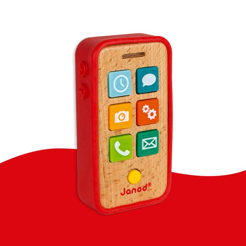 Téléphone Sonore (bois et silicone) Janod