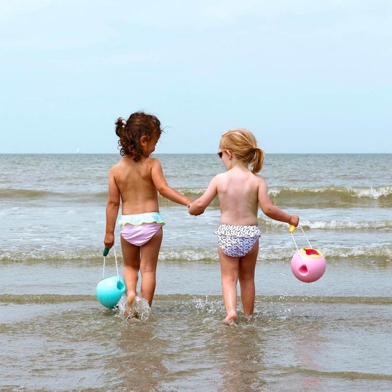 Quut Seau Mini Ballo Bleu - Un seau de plage  pour les enfants