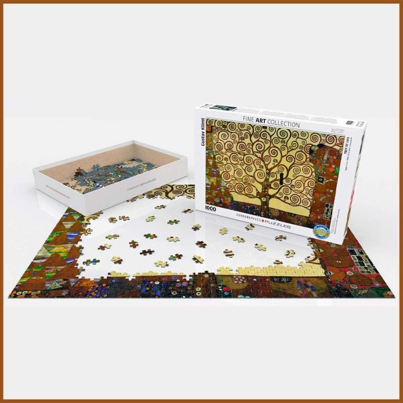 Puzzle Arbre de vie par Gustav Klimt - 1000 pièces - Eurographics - Mise en scène