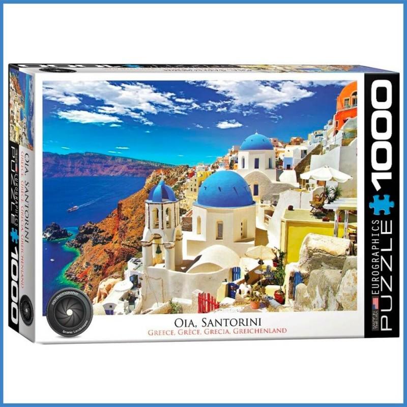 Puzzle Oia Santorin Grèce - 1000 pièces - Eurographics