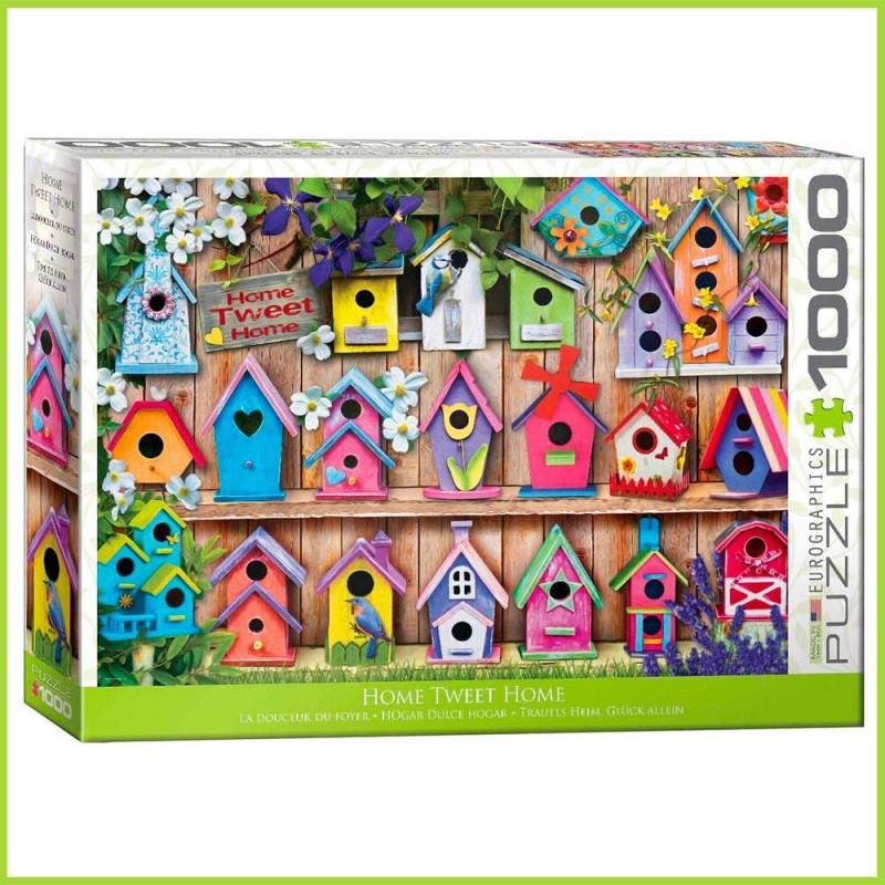 Puzzle Home Tweet Home - Les cabanes à oiseaux - 1000 pièces - Eurographics