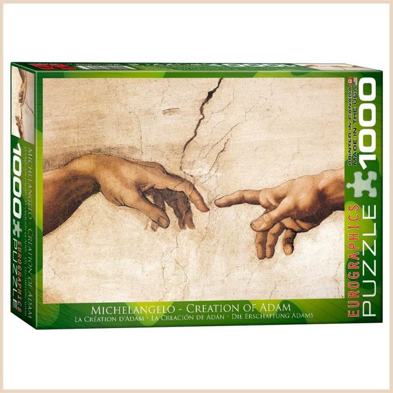 Puzzle Création d'Adam par Michel-Ange - 1000 pièces - Eurographics