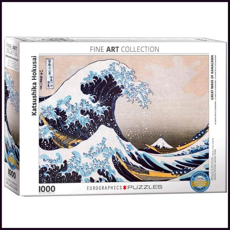 Puzzle La Grande Vague de Kanagawa par Katsushika Hokusai - 1000 pièces - Eurographics