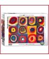 Puzzle Etude de couleurs de carrés de Wassily Kandinsky - 1000 pièces - Eurographics