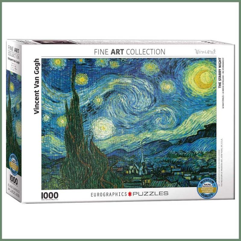 Puzzle Van Gogh - Nuit Étoilée - 1000 Pièces - Eurographics