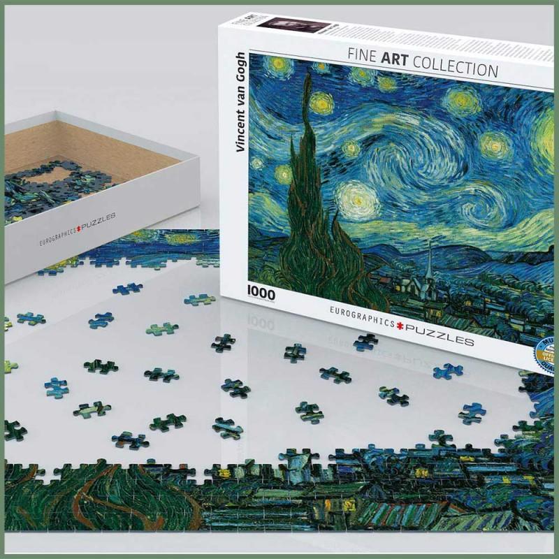 Puzzle Van Gogh - Nuit Étoilée - 1000 Pièces - Eurographics - Mise en scène