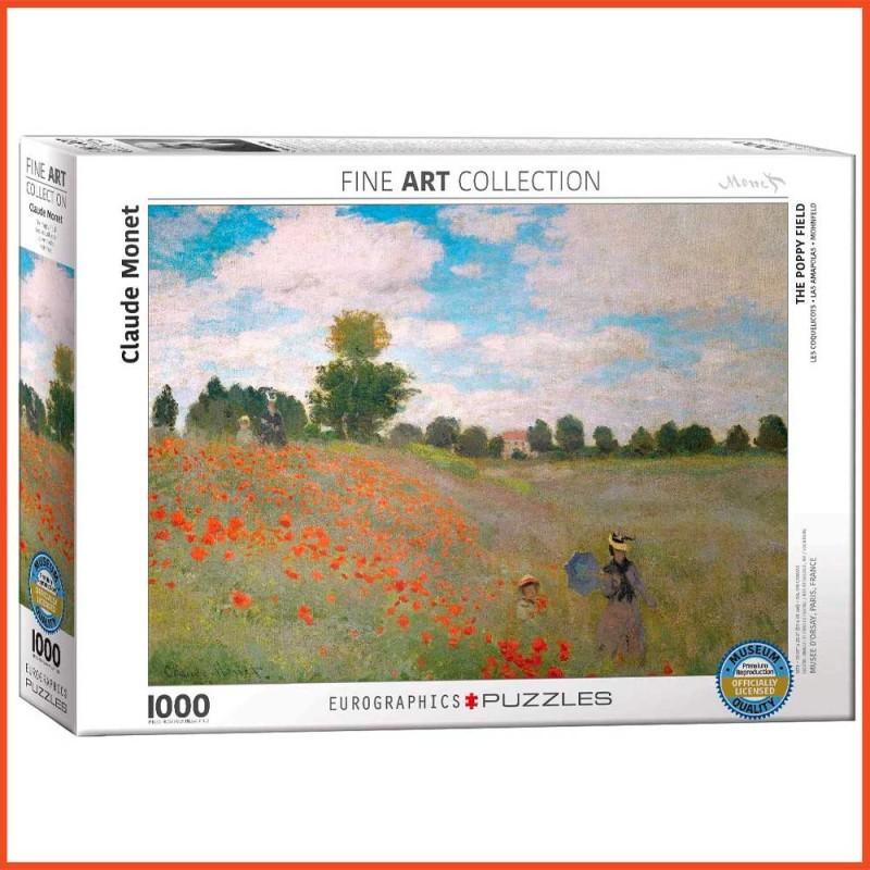 Puzzle Les Coquelicots par Claude Monet - 1000 pièces - Eurographics