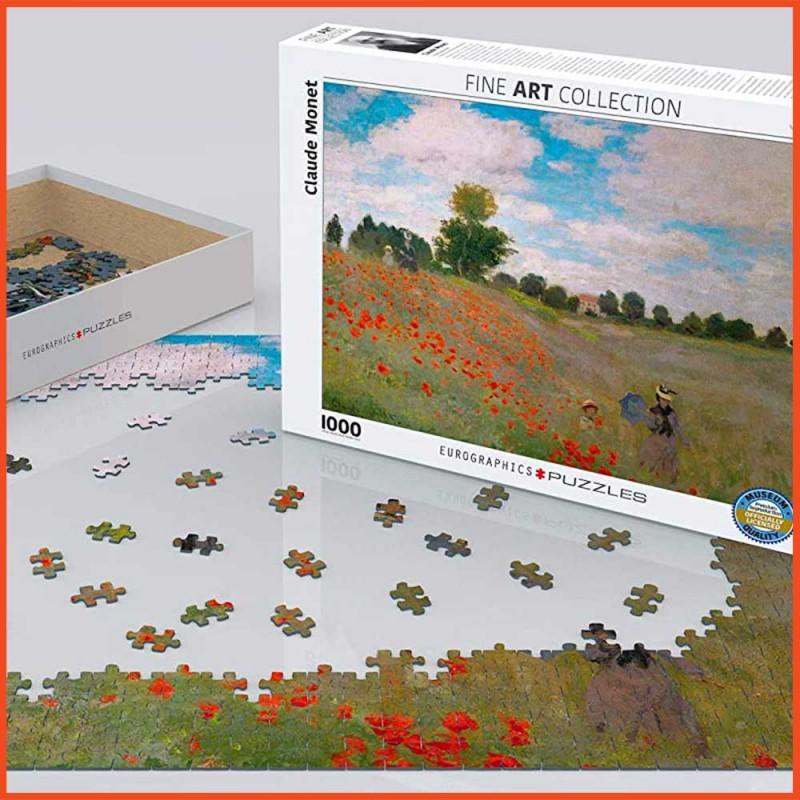 Puzzle art de Monnet Les Coquelicots
