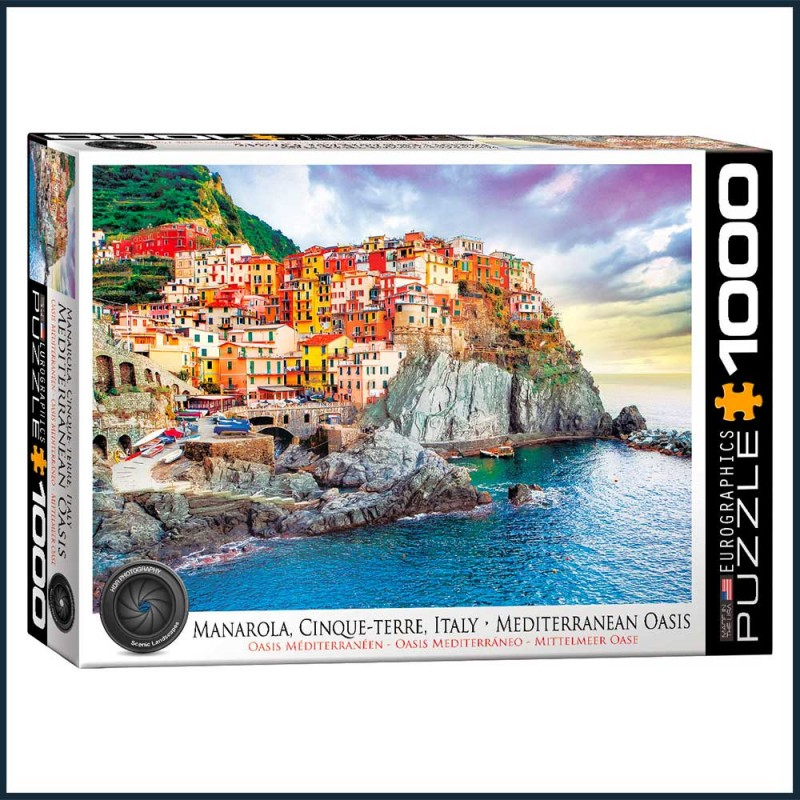 Puzzle Oasis Méditerranéen Manarola - 1000 pièces - Eurographics