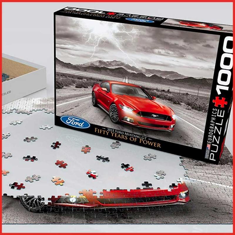 Puzzle Ford Mustang GT 2015 - 1000 pièces - EuroGraphics - Mise en scène