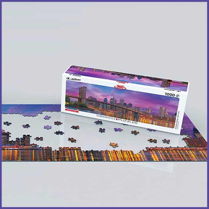 Puzzle Pont de Brooklyn New York - Puzzle Panoramique 360° - EuroGraphics - mise en scène