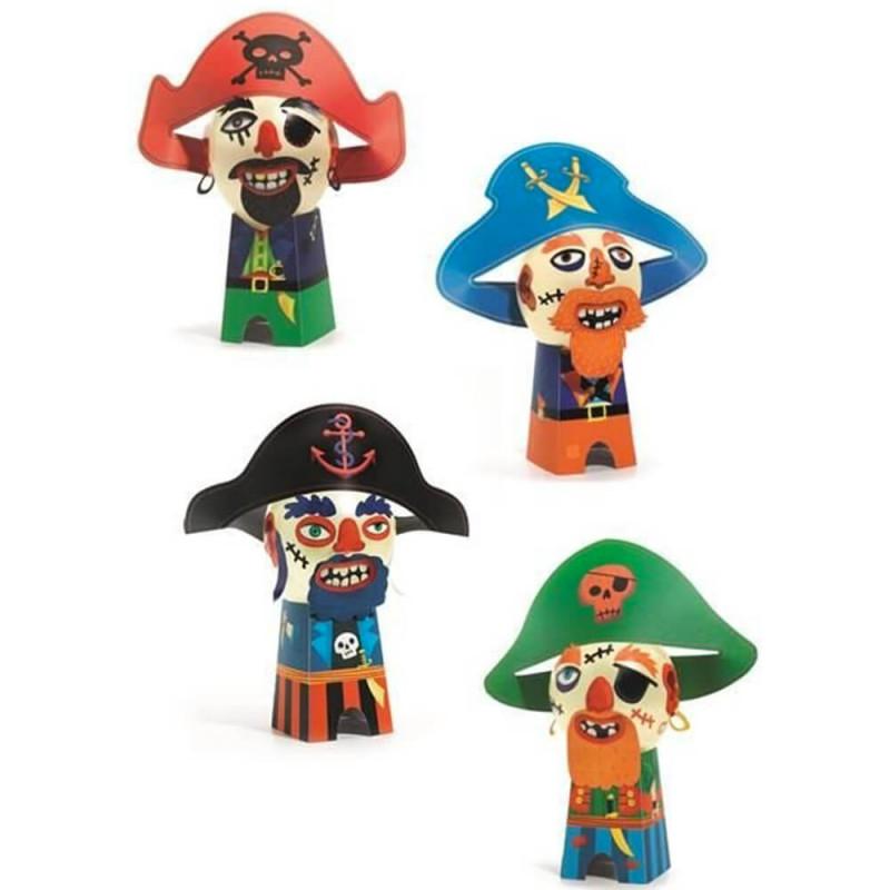 Les 4 pirates à fabriquer soi-même pour les enfants (dès 5 ans)